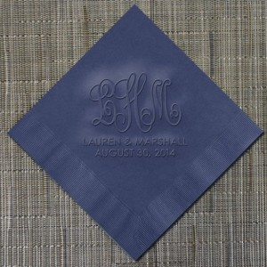 Wedding Monogram Cocktail Napkins (WRT546)