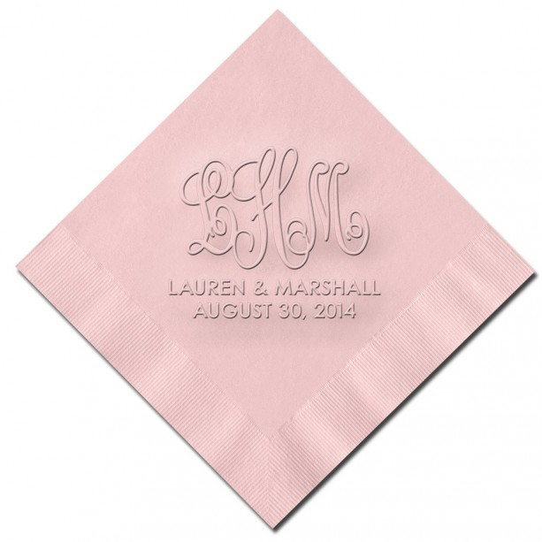 Wedding Monogram Cocktail Napkins WRT546