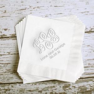 Wedding Monogram Cocktail Napkins (WRT546)