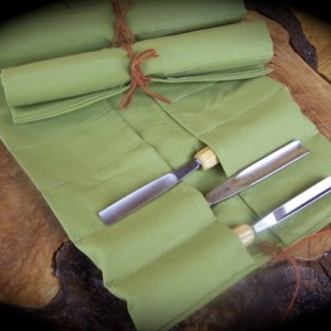 Extra Large Wasabi Canvas Tool Roll