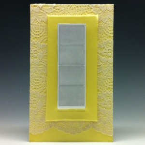 Victorian Satin and Lace Photo Booth Photo Frame