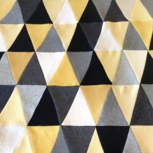 Triangle Cashmere Throw Blanket - 48 x 34 inches, Made to Order, your color choices. Upcycled cashmere sweaters patchwork quilt - Luxurious