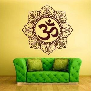 Wall Decal Vinyl Sticker Decals Hindu Om Symbol Buddha Indian Word (Z1365)