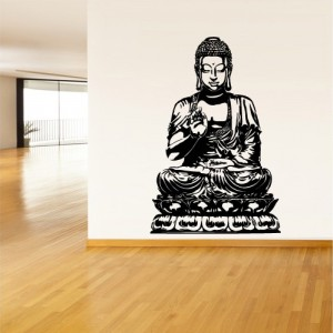 Wall Decal Vinyl Sticker Decals Buddha India Indian Om Ganesh God Yoga (Z1377)