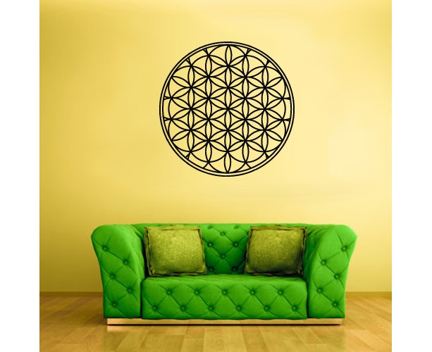 Wall Decal Vinyl Sticker Decals Flower of Life Mandala Bedroom (Z1820)