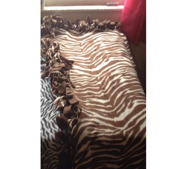 Chocolate Zebra Blanket