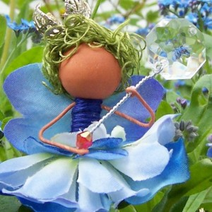 Blue Fairy Custom Artisan Made Ornament Faery Decor